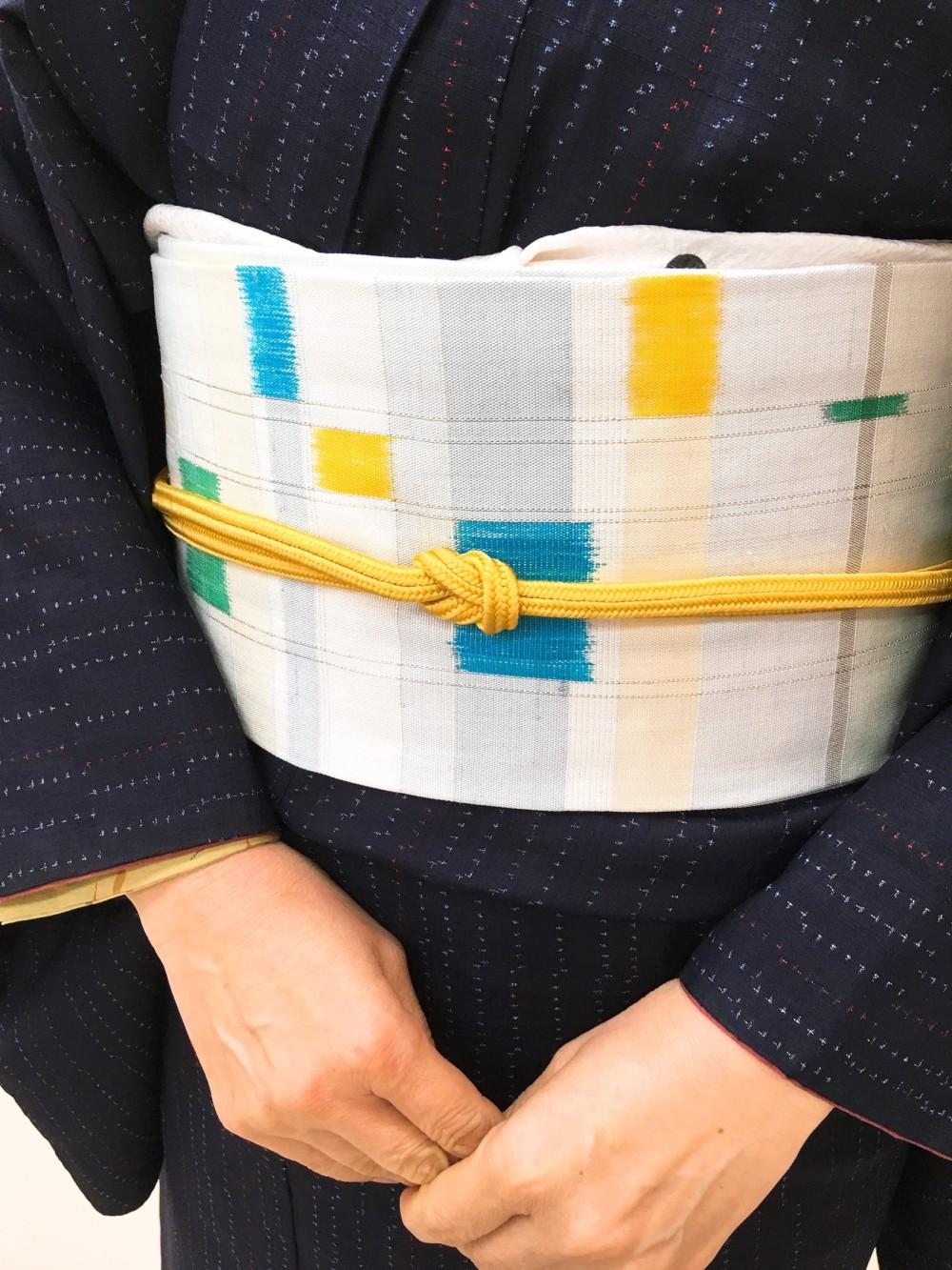 九寸帯 カジュアル着物 普段着きもの 紬 帯