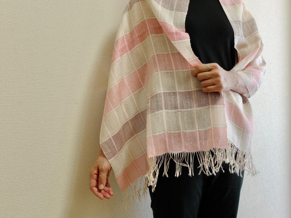 うすぎぬ ショール 絹 手織り 冷房よけ