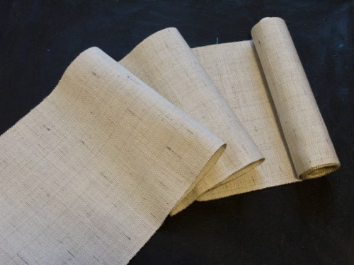 八寸帯 オーダー 注文 お誂え 手織り 紬