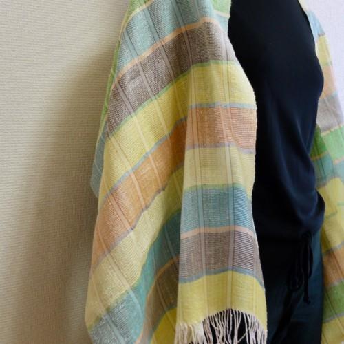 ショール 薄地 手織り 絹
