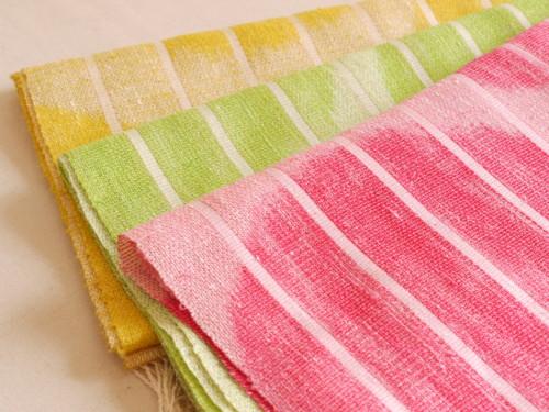水玉 ショール 手織り 絹